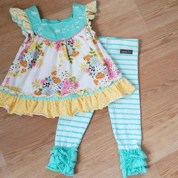 NWT Matilda Jane Adventure 3 6 12 18 24 M Begins Pretty Preschool Dress NEW